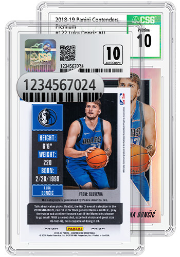 Sports Card in a CSG Holder